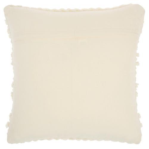 """Life Styles Gc102 Ivory 18"""" X 18"""" Throw Pillow"""