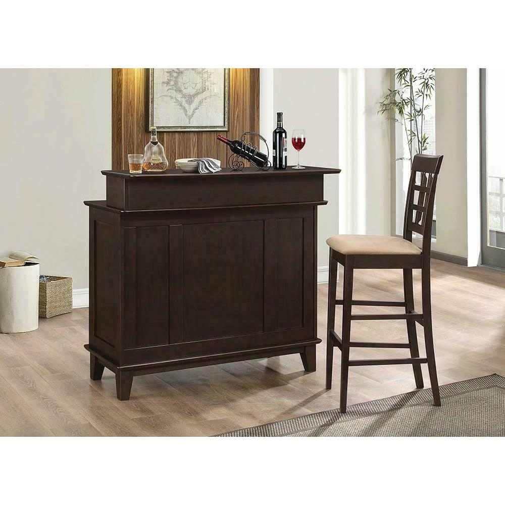 See Details - Gabriel Cappuccino Exposed Wood Counter Stool