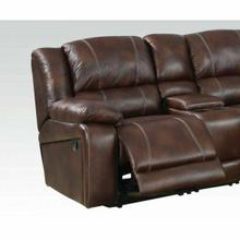 ACME Zanthe Sectional Sofa (Motion) - 50300B_KIT - Brown Polished Microfiber