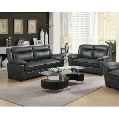 See Details - Arabella Brown Faux Leather Two-piece Living Room Set
