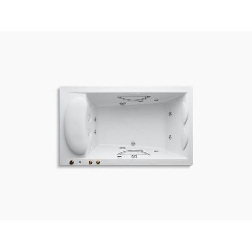"Biscuit 75"" X 45"" Drop-in Whirlpool With Integral Fill and Heater Without Jet Trim"