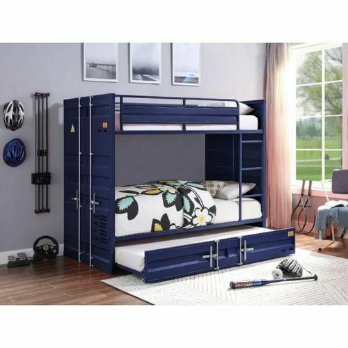 ACME Cargo Bunk Bed (Twin/Twin) - 37900 - Blue