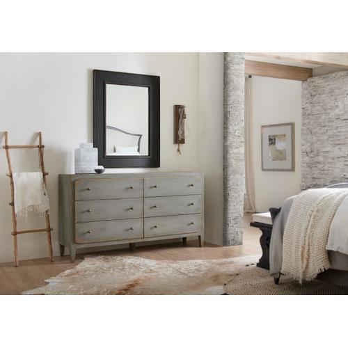 Hooker Furniture - Ciao Bella Six-Drawer Dresser- Speckled Gray