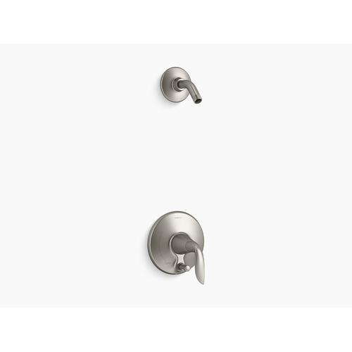 Kohler - Vibrant Brushed Nickel Rite-temp Shower Trim Set With Push-button Diverter, Less Showerhead