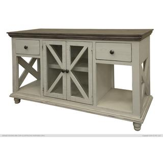 See Details - 2 Drawer, 2 Door, Sofa Table, Ivory finish