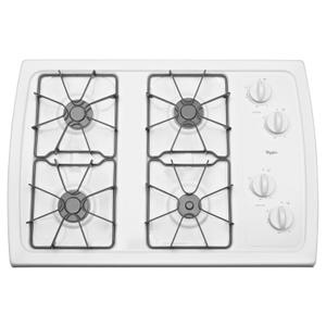 30-inch Gas Cooktop with 5,000 BTU AccuSimmer® Burner White -