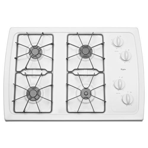 Whirlpool - 30-inch Gas Cooktop with 5,000 BTU AccuSimmer® Burner White