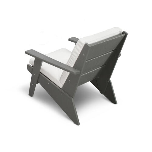 Black & Grey Mist Riviera Modern Lounge Chair