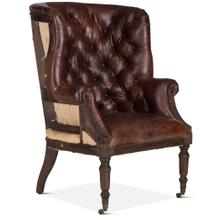 Product Image - Welsh Deconstructed Armchair with Vintage Cigar Leather