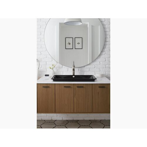 Sea Salt Drop-in/undermount Vessel Bathroom Sink With Iron Black Painted Underside