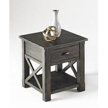 Rectangular End Table - Dark Birch Smoke Finish