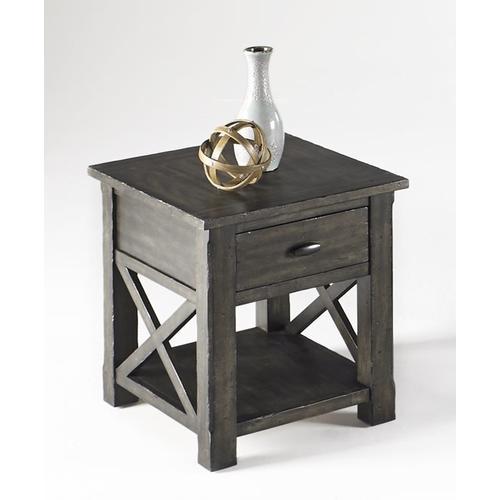 Rectangular End Table - Dark Birch Smoke Finish
