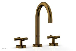 TRANSITION - Widespread Faucet - High Spout, Cross Handles 120-01 - French Brass Product Image