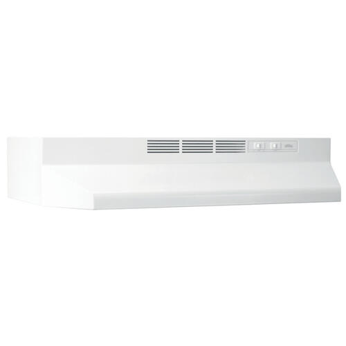 "42"" Ductless Under-Cabinet Range Hood with Light in White"