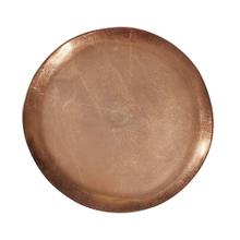 View Product - Bronze Aluminum Organic Round Footed Plate