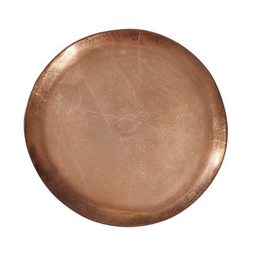 Howard Elliott - Bronze Aluminum Organic Round Footed Plate