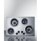 "30"" Wide 230v 4-burner Coil Cooktop"