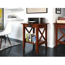 See Details - Lexi Printer Stand with Charging Station Walnut