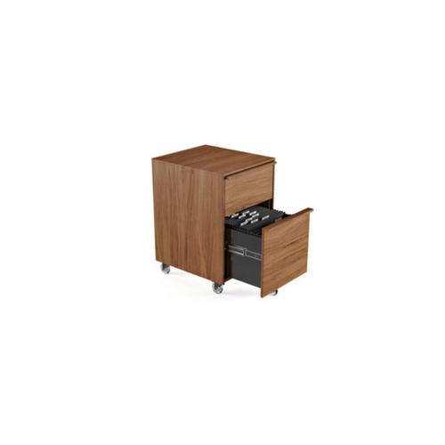 Mobile File Pedestal 6207 in Natural Walnut