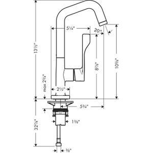 Chrome Single lever kitchen mixer 260 1.5 GPM