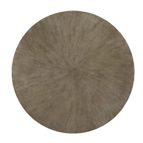 """Casa Bella """"x"""" Base Round Dining Table Combo Finish: Timber Gray/charbrown"""