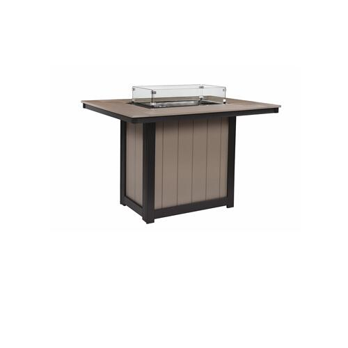 Donoma Rectangular Bar Height Fire Table