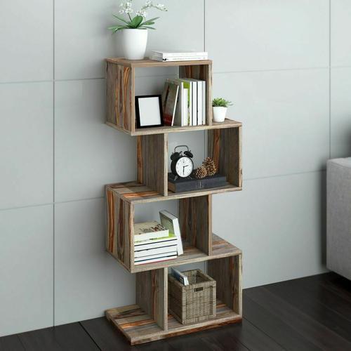 Worldwide Homefurnishings - Idris Shelving Unit in Grey