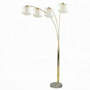 ACME Chandelier Floor Lamp - Shade & Stand - 03678G - Gold - Crystalline Lamp
