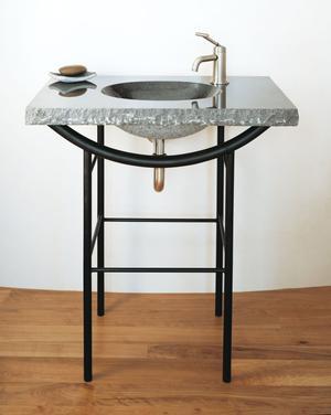 Integral Sink Blue Gray Granite Product Image
