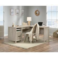 Chalked Chestnut L-Shaped Desk with Drawer