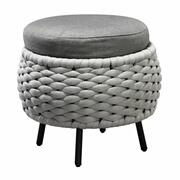 ACME Egil Patio Ottoman - 45042 - Fabric & Gray Product Image