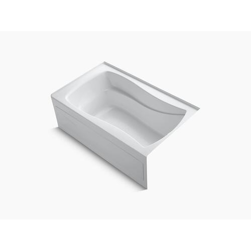 "Dune 60"" X 36"" Alcove Bath With Bask Heated Surface, Integral Apron, Integral Flange and Right-hand Drain"