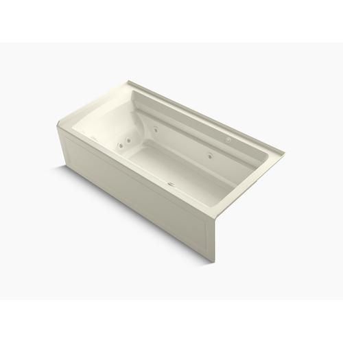 """Biscuit 72"""" X 36"""" Integral Apron Whirlpool + Heated Bubblemassage Air Bath With Right-hand Drain"""