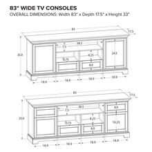 Howard Miller Custom TV Console TS83D