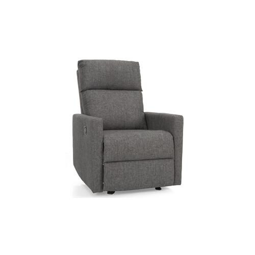 Charcoal Reclining Chair with glider