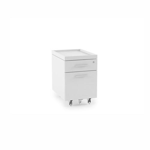 Mobile File Pedestal 6407 in Satin White Painted Oak