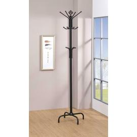 See Details - Contemporary Stain Black Coat Rack