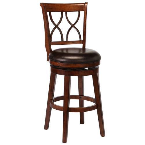 Reydon Swivel Bar Stool - Brown Cherry