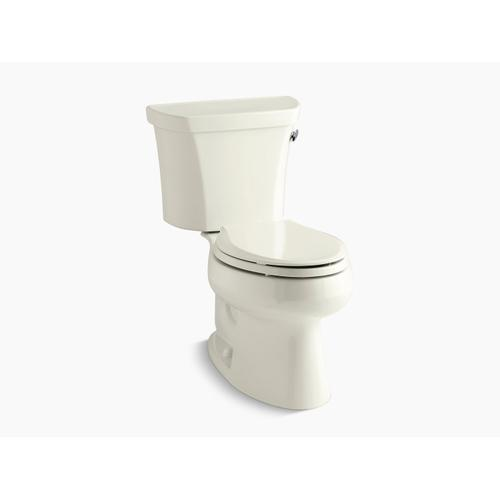 Kohler - Biscuit Two-piece Elongated 1.6 Gpf Toilet With Right-hand Trip Lever and Tank Cover Locks