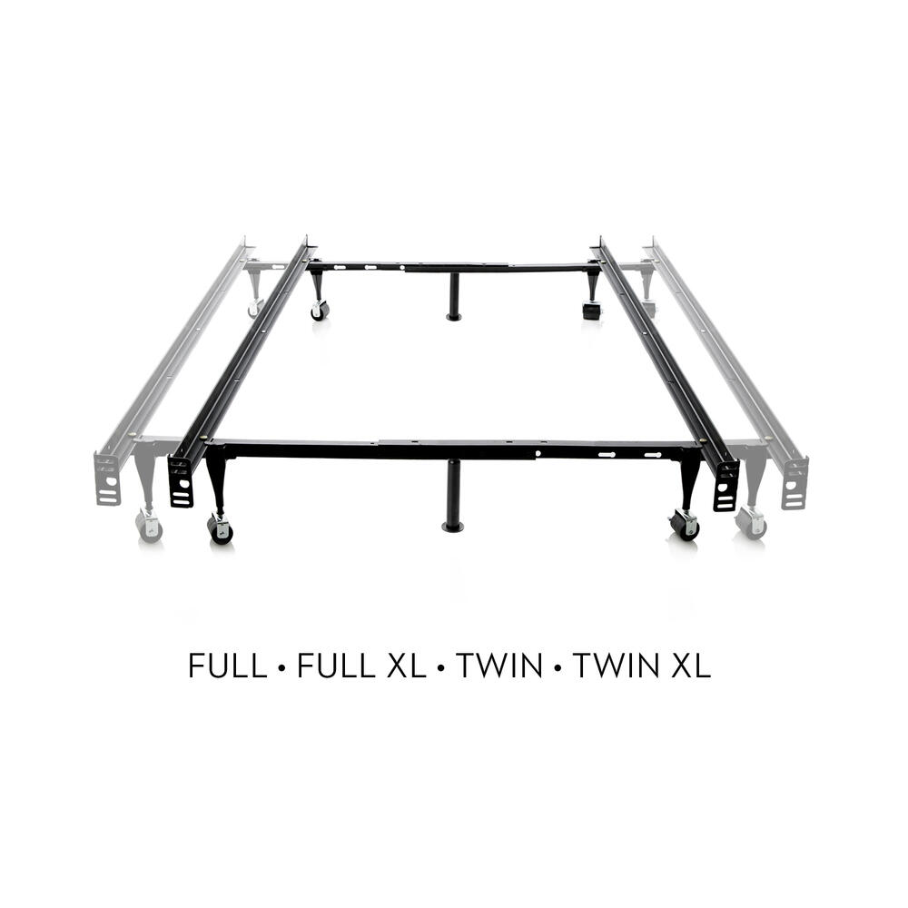 Twin/Full Adjustable Bed Frame - Wheels