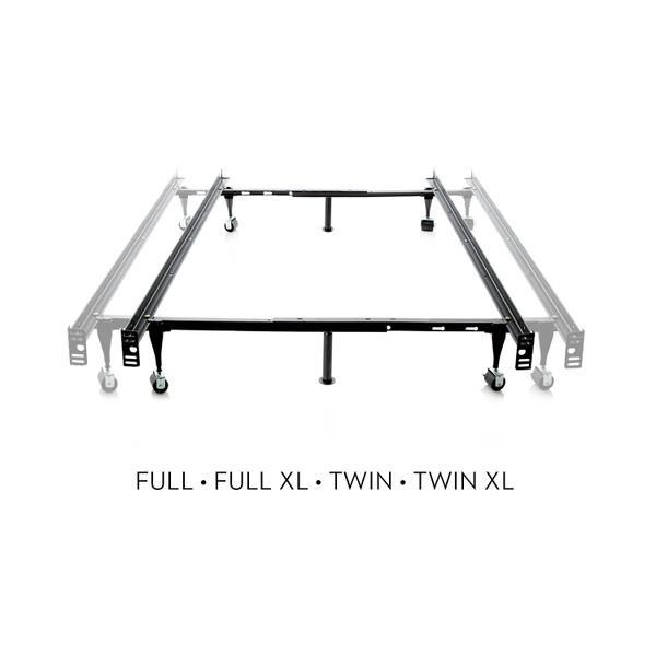 See Details - Twin/Full Adjustable Bed Frame - Wheels