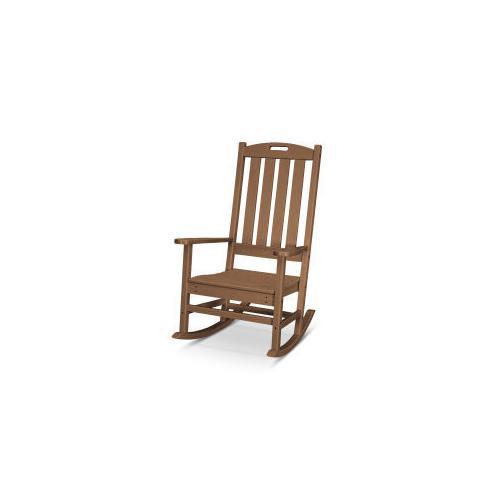 Polywood Furnishings - Nautical Porch Rocking Chair in Teak