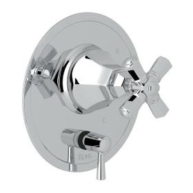 Palladian Pressure Balance Trim with Diverter - Polished Chrome with Cross Handle
