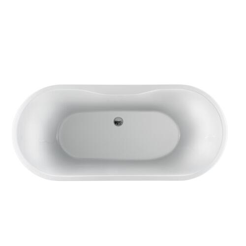"Penney 61"" Acrylic Tub - Tap Deck - No Drillings"