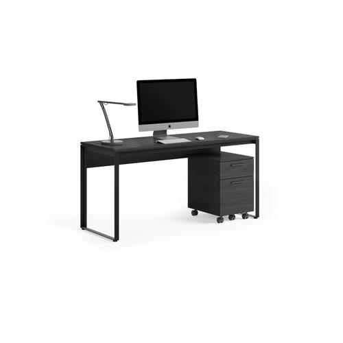 BDI Furniture - Linea 6223 Work Desk in Charcoal Stained Ash