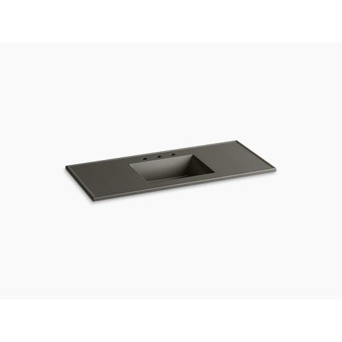 """Cashmere Impressions 49"""" Rectangular Vanity-top Bathroom Sink With 8"""" Centerset Faucet Holes"""