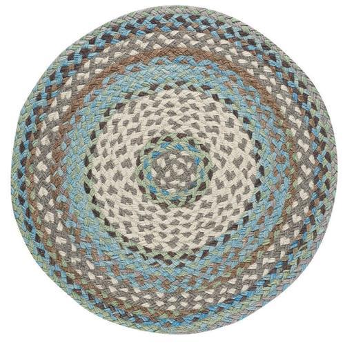 "Capel Rugs - Wanderer Ocean Blue - Round - 36"""