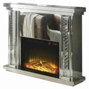 ACME Nysa Fireplace - 90254 - Mirrored & Faux Crystals Product Image