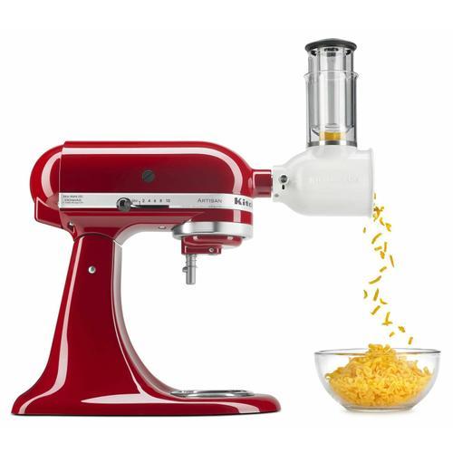 Gallery - Value Bundle Artisan® Series 5 Quart Tilt-Head Stand Mixer with Fresh Prep Slicer/Shredder Attachment - Empire Red