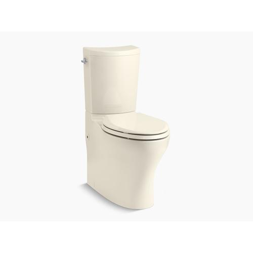 Almond Two-piece Elongated Dual-flush Chair Height Toilet